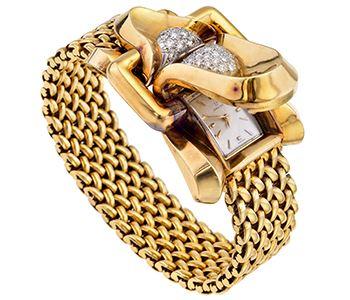 купить золотой браслет на часы ника женские