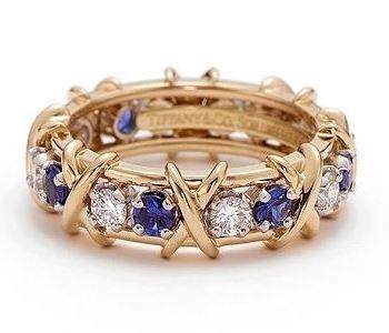 каталог часть 3. Обручальное кольцо с сапфирами и бриллиантами Tiffany and  Co. GRP00057 040fbdafe10