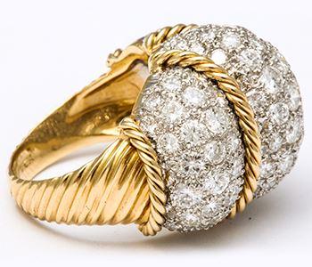 Кольцо из желтого золота в виде бриллиантового купола Van Cleef and Arpels  M0025 02cf0725a9e